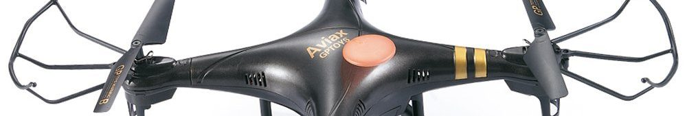 GPTOYS Black Aviax Quadcopter