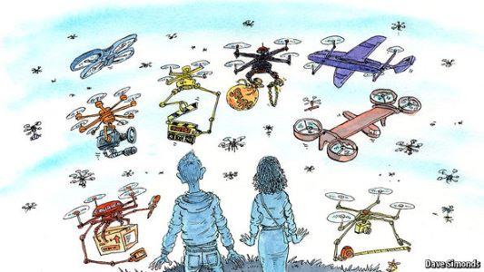lots of drones